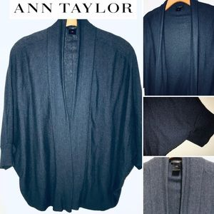 Ann Taylor Three Qrtr Sleeve Bolero Style Sweater